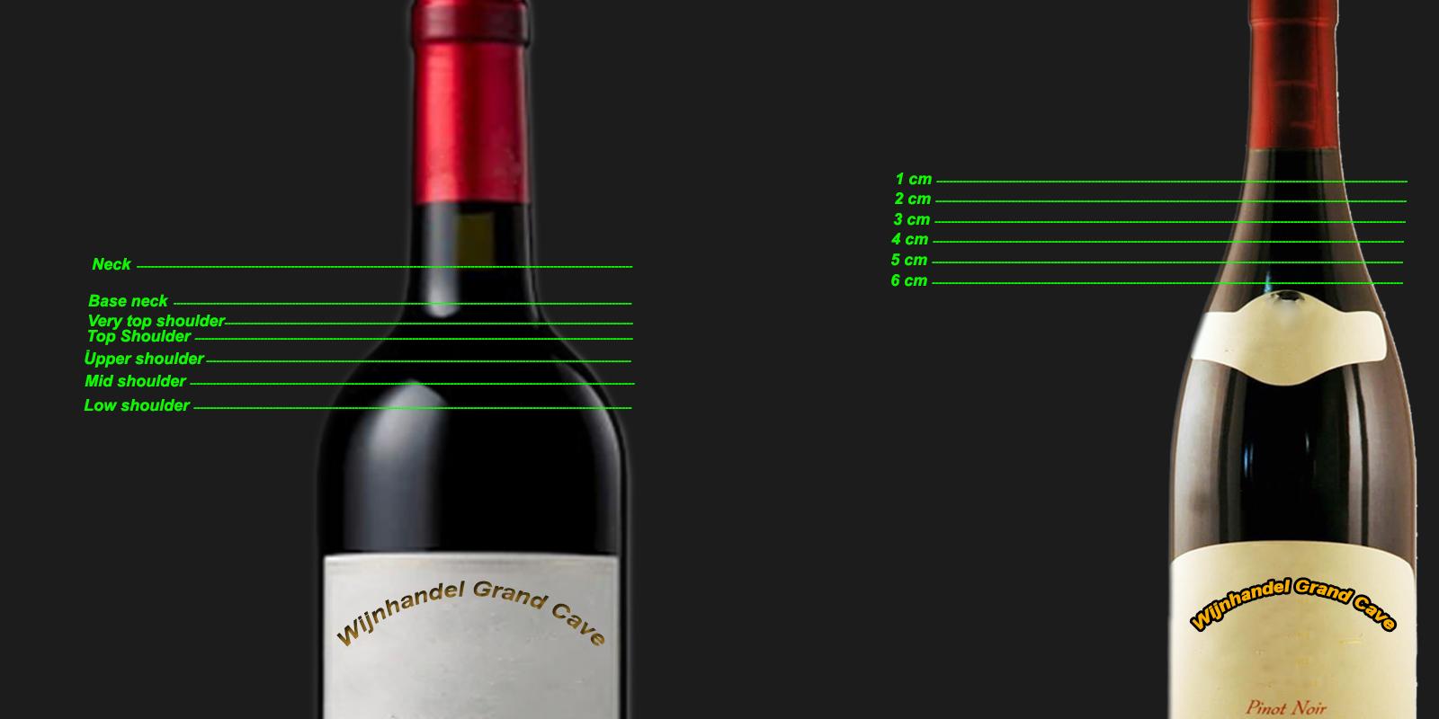 Taxeren wijnfles
