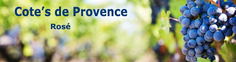 Rose Wijnen uit Zuid Frankrijk Cote de Provence een heerlijke zon overgoten gebied waar rose wijnen bij een koel zee klimaat en verkoeling van de bergen tot in perfectie worden gemaakt.
