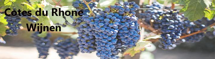 Cotes du Rhone is een langgestrekt gebied langs de Rhone de meeste wijnen  worden verbouwd in het zuidelijkste gedeelte, een veel voorkomende druif is de Syrah, Grenache Noir, Viognier, Roussanne, Marsanne