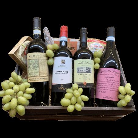 Wijnmand de Luxe Italien style the reds