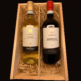 Wijnkist rode en witte wijn...