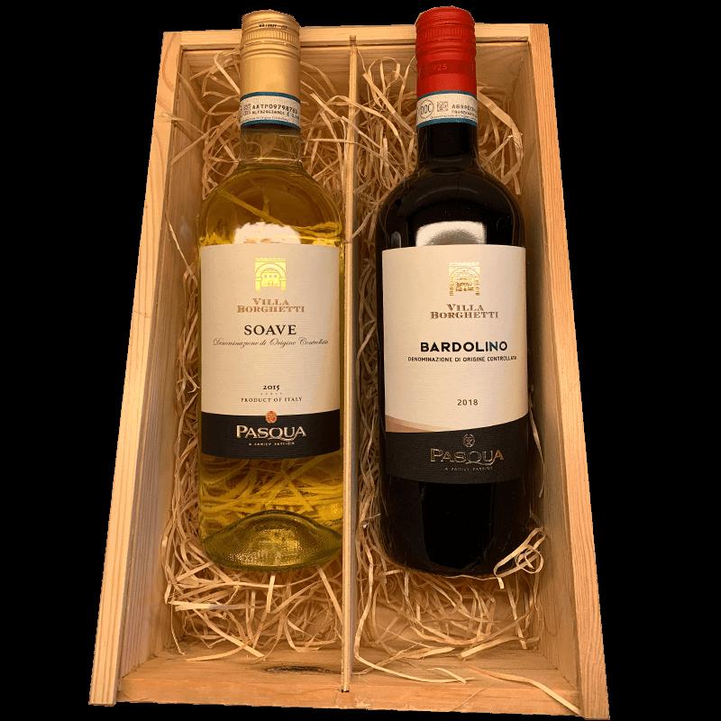 Wijnkist rode en witte wijn Italie 22.305785