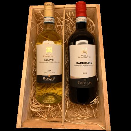 Wijnkist rode en witte wijn Italie