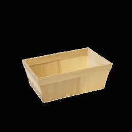 Deze houten mandjes zijn gecertificeerd als voedsel veilige verpakking  Afmeting: 28 x 18 x 9.5 cm