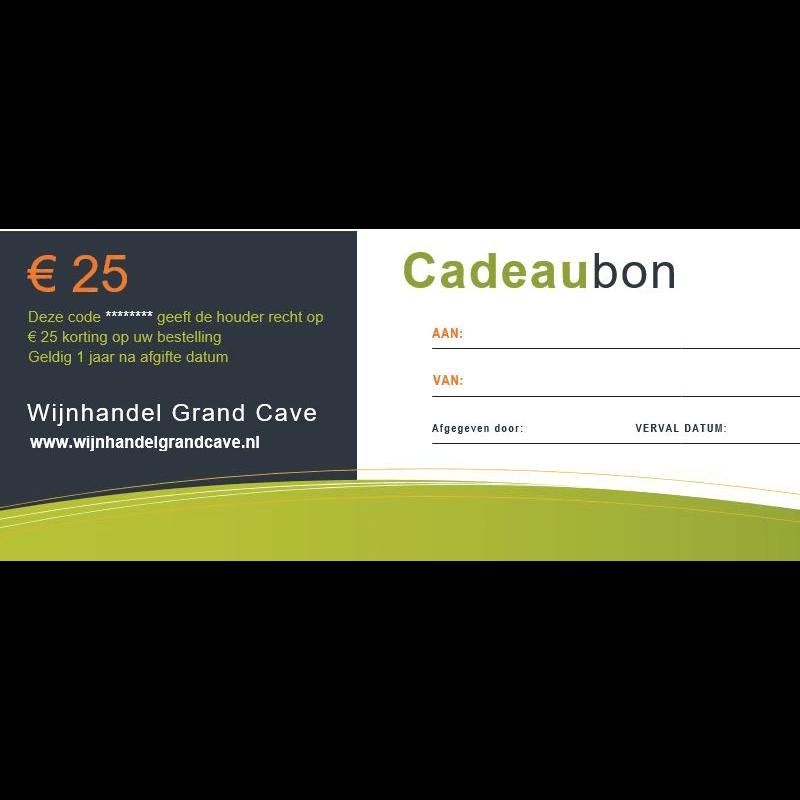 Cadeaubon 25 euro 20.661157
