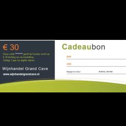 Wijn Cadeaubon 30 euro