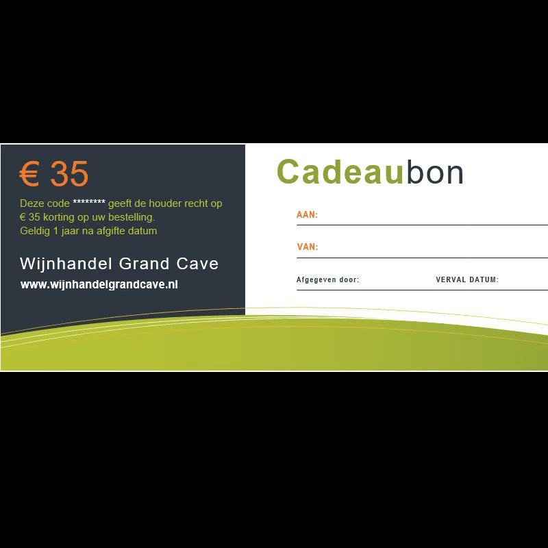 Wijn Cadeaubon 35 euro