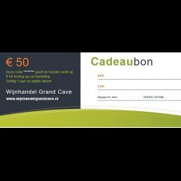 Wijn Cadeaubon 50 euro