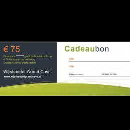 Wijn Cadeaubon 75 euro